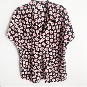 CAbi Floral Harmony Blouse Top Style #5347